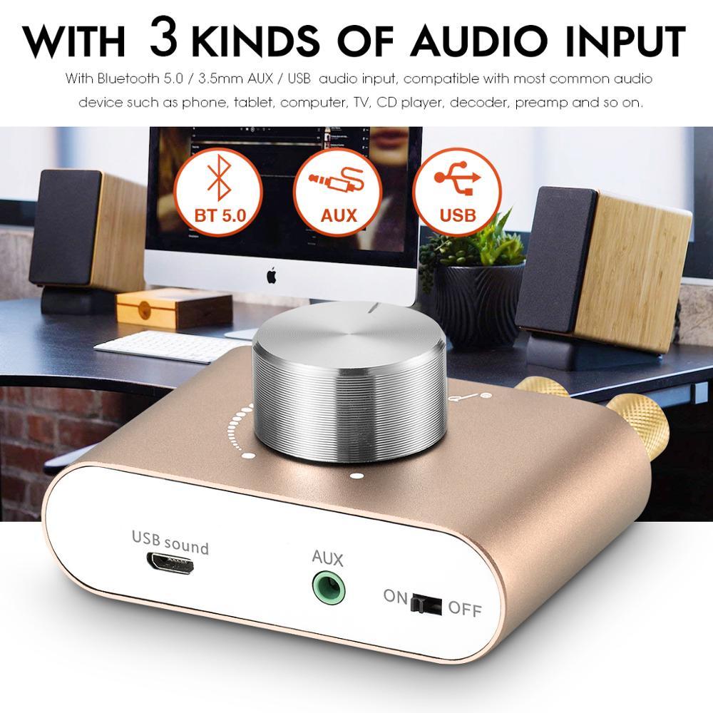lowest price 2020 Latest Nobsound Mini Bluetooth 5 0 TPA3116 Digital Power Amplifier HiFi Stereo Wireless Audio Receiver Car Amplifiers