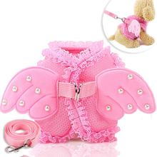 Traction Rope Kitty Pull-Rope-Set Angel Wing Pet-Chest-Strap Puppy Princess Dog Cat-Out
