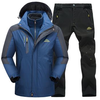 Narciarstwo kurtki i spodnie mężczyźni i kobiety kombinezon narciarski snowboard zestawy bardzo ciepłe nieprzewiewne wodoodporna śnieg na świeżym powietrzu na świeżym powietrzu ubrania tanie i dobre opinie sceamout Suknem Pasuje prawda na wymiar weź swój normalny rozmiar Snowboarding Set