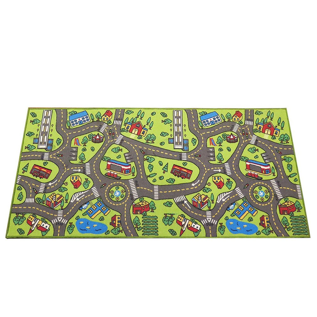 Baby Plush Carpet Traffic Pattern Carpet Mat Anti-Slip Anti-Fall Game Crawling Mat Educational Toy &Toddler Gift For Girl Boy