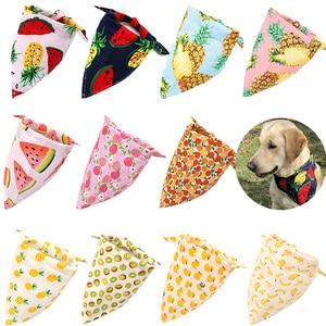 Image 3 - 50X Summer&Christmas Dog Cat Bandanas Scarf Adjustable Kids/Baby Dogs Cats Bibs Triangular Bow Ties Pet Grooming Accessories