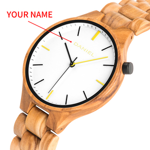 Image 3 - Cuatomize Naam BOBO VOGEL Hout Horloge Mannen Top Luxe Merk Horloges Mannelijke Klok in Houten geschenkdoos huwelijk gift