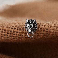 Game Final Fantasy VII Cloud Wolf Earstuds Earrings Cosplay FFVII 925 Sterling Silver Ear Studs Jewelry Costume Accessories Gift
