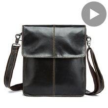 Мужская сумка Кроссбоди из натуральной кожи модная мессенджер