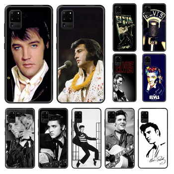 Singer Elvis Presley Phone case For Samsung Galaxy S 3 4 5 6 7 8 9 10 E Plus Lite Edge black trend funda fashion cell cover tpu image