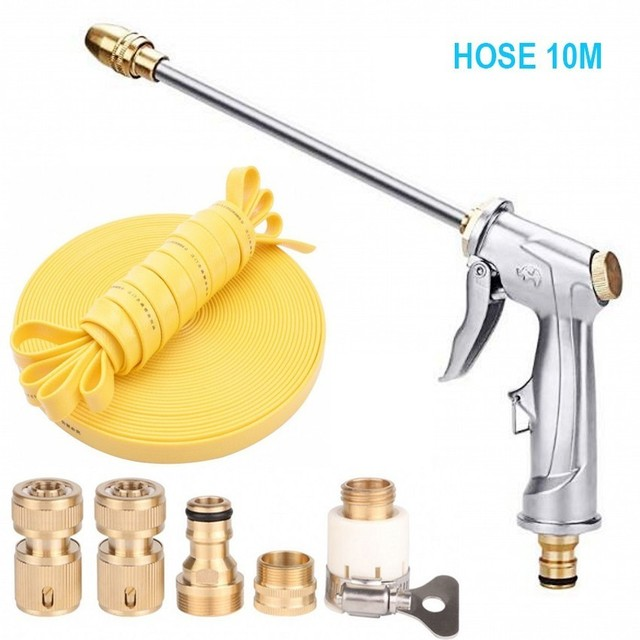OPQR Jet Garden Watering Flexible Water Hose High Pressure Leak Proof Pistol Grip Sprayer Spray Nozzle Expanding Hoses 50FT
