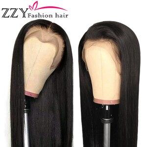 Модные перуанские прямые парики из натуральных волос на фронте с кружевом, плотность 150%, 13х4, парик с фронтальным кружевом, не-remy, предварите...