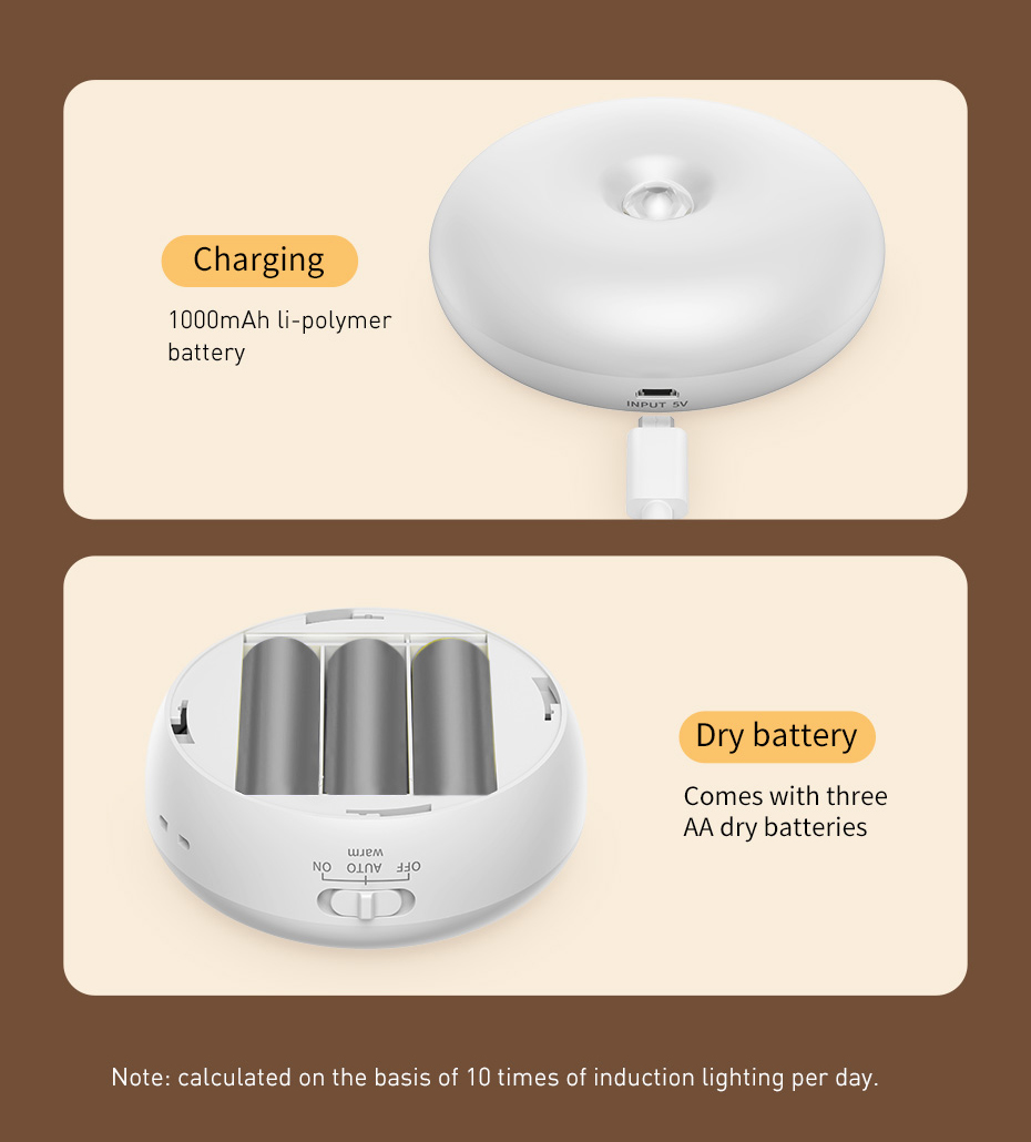 Intelligent LED night lamp