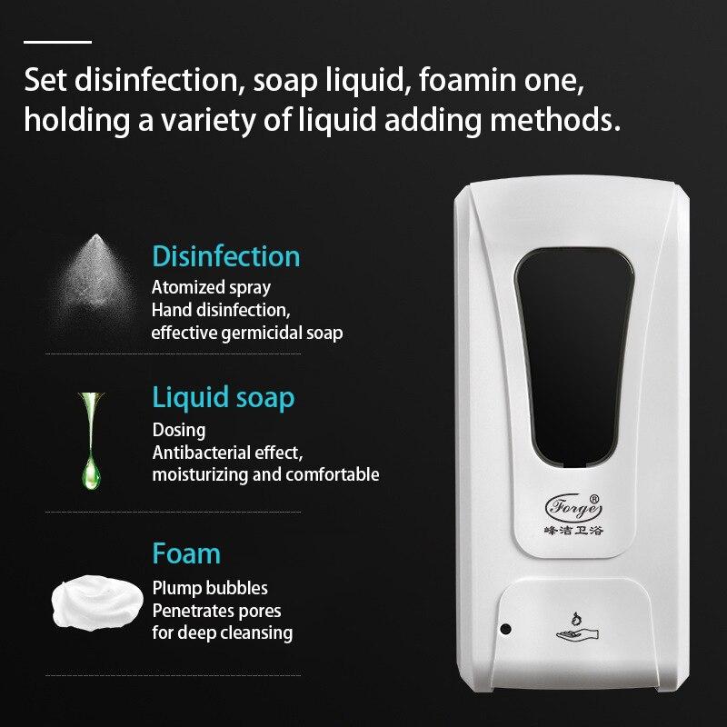 1200ML Touchless HandDesinfektion Seifenspender Sprayer IR Sensor Automatischer