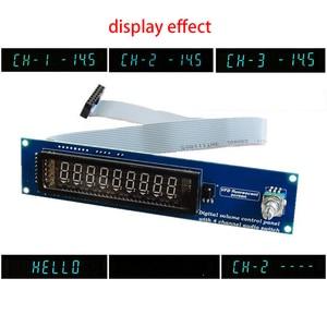 Image 2 - Panneau de Volume à distance à affichage Fluorescent sous vide VFD commutateur de Signal Audio à 4 voies sélecteur de commutateur carte de préamplificateur Audio HiFi