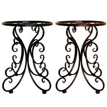 все цены на Indoor Balcony Single Wrought Iron Flower Pot Tray Stand Round Stool Flower Rack Ideal For Patios & Porches & Office & Balconies онлайн