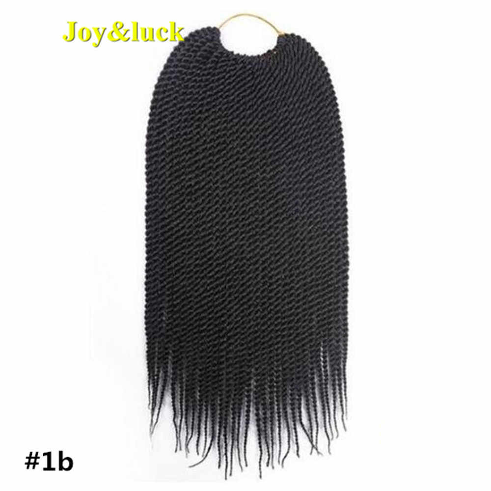 Joy&luck 14inch Kids Short Senegalese Twist Braiding Hair Synthetic Ombre Color Crochet Braids Hair Extensions 30Strands