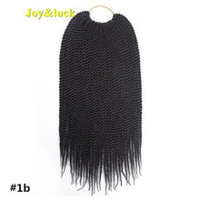 Joy&luck 14inch Kids Short Senegalese Twist Braiding Hair Synthetic Ombre Color Crochet Braids Hair Extensions 30Strands(China)