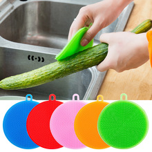Cleaning Brush Silicone Scouring Pad Silicone Dish Sponge Kitchen Pot Multifunction Silicone Sponge Bowl Cleaner Washing Tool 2pcs multifunction silicone dish bowl cleaning brush dish sponge kitchen washing tool