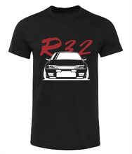 cotton Fashion 100% Cotton Slim Fit Top SKYLINE R32 GTS-T GTR T-SHIRT SHIRT GIFT CAR BLACK WHITE T-Shirt sbz5534