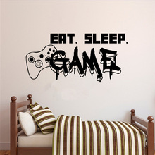 Gamer Wall Decal Eat Sleep Game Controller Video Game Wall Sticker for Bedroom Vinyl Decals Mural Wall Decor Wallpaper gamer wall decal eat sleep game controller video game wall sticker for bedroom vinyl decals mural wall decor wallpaper pw206