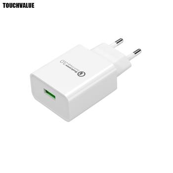 10pcs/lot EU Plug USB Charger 18W Quick Charge 3.0 5V 3A 9V 2A 12V 1.5A 100-240V Travel Fast Charger CE Certification
