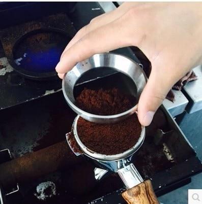 51/53/57.5/58/58.35mm Stainless Steel Intelligent Dosing Ring Brewing Bowl Coffee Powder For Espresso Barista Funnel Portafilter