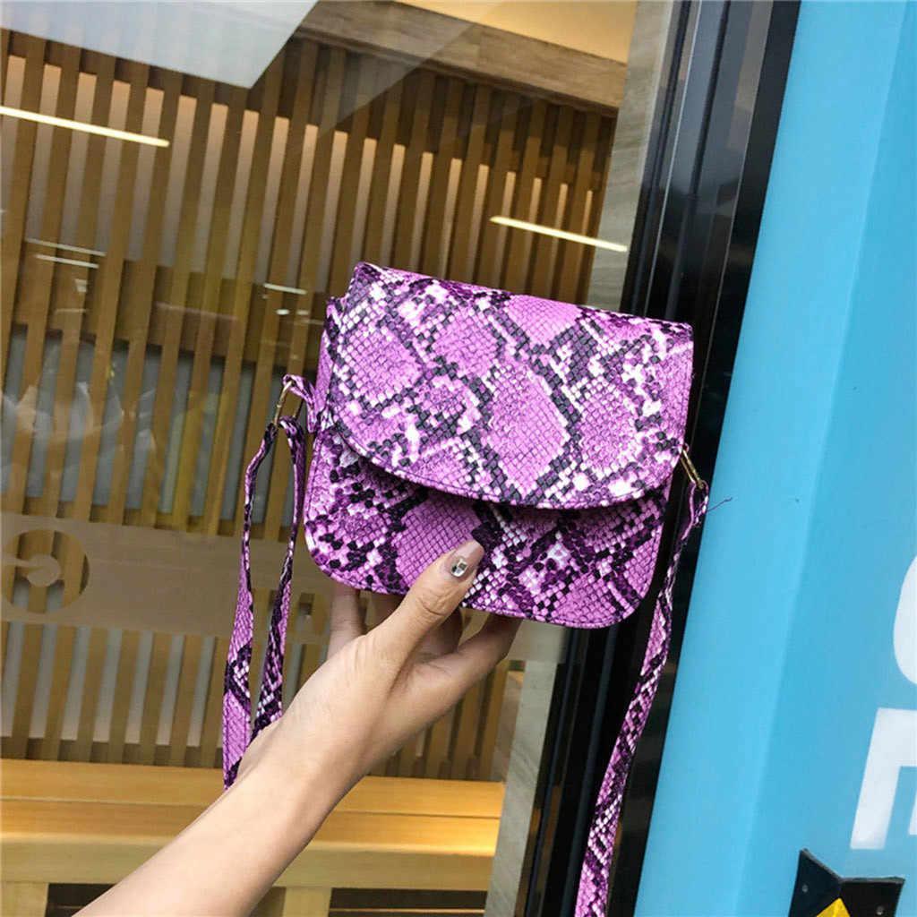 Luxo cobra impressão bolsa feminina sacos de design nova tendência clássico serpentina selvagem saco do mensageiro sacos de ombro bolsa feminina # p