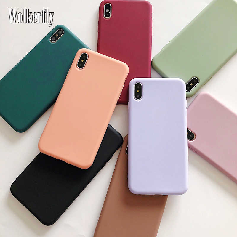 Candy Color Case For Samsung Galaxy A10 A20 A30 A40 A50 A60 A70 A80 S8 S9 S10 Plus S10e A6 A7 A8 A9 2018 Plain Silicone Cover