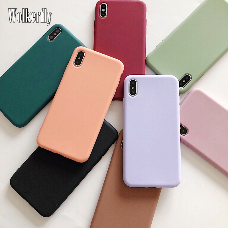 Candy Color Case For Samsung Galaxy A51 A71 A10 A20 A30 A40 A50 A70 S8 S9 S10 S20 Plus S10e A6 A7 A8 2018 Plain Silicone Cover