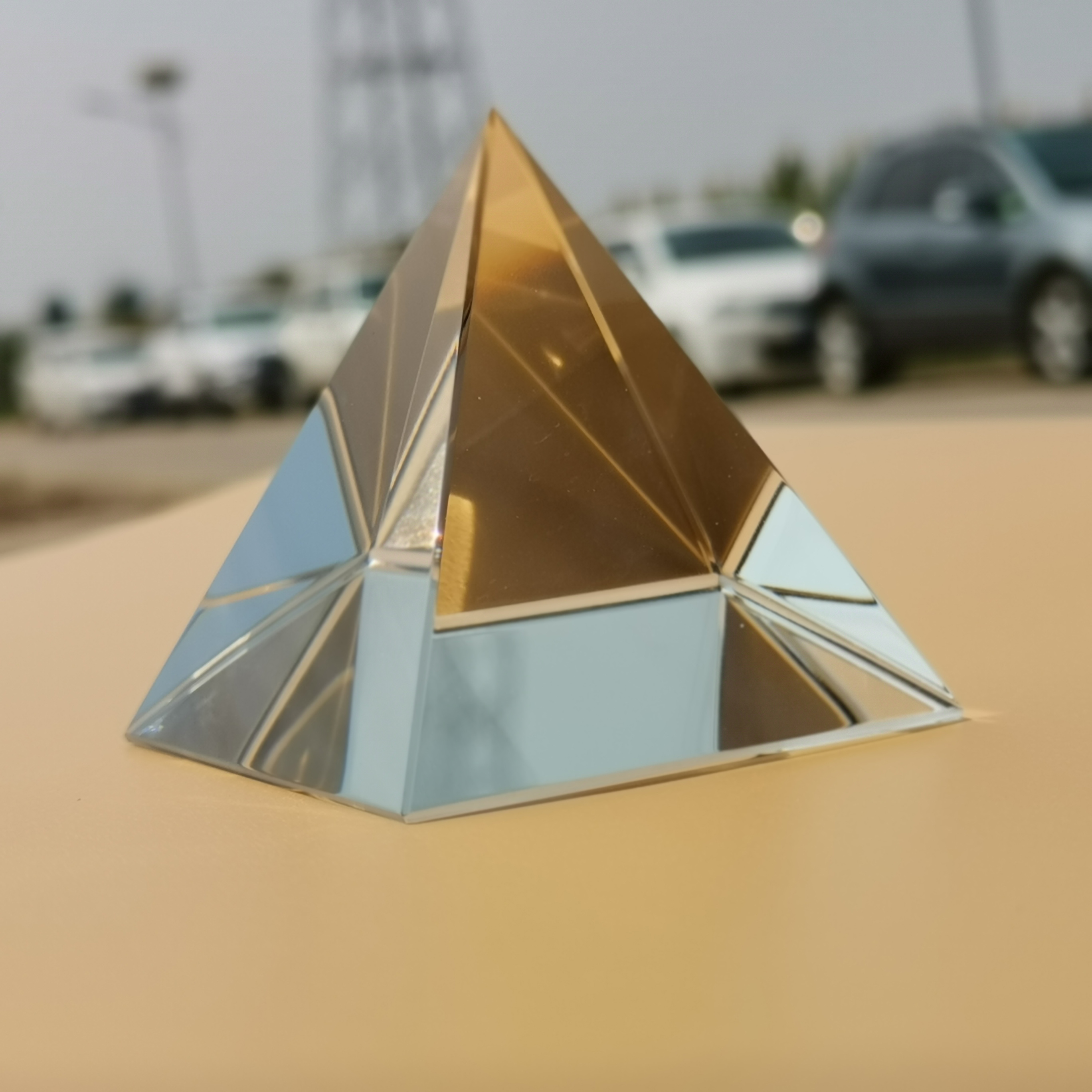 cristal fotografia triângulo luz guia ciência óptica espectrumtools ensino