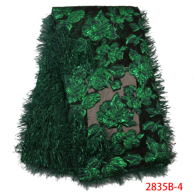 Embroidered Brocade Lace for Wedding Party Dress High Quality Green African French Tulle Lace Nigerian Net Lace Fabrics APW2835B-in Lace from Home & Garden