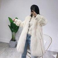 Real 2020 Winter Coat Women Velvet Mink Sleeve White Raccoon Fur Warm Coats Manteau Femme DB20 YY456