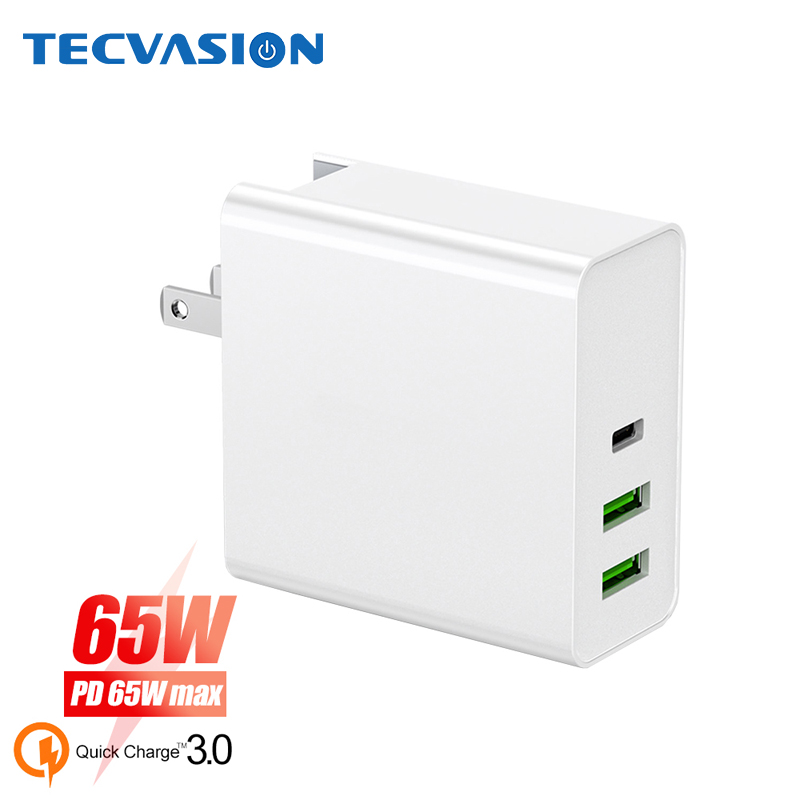 65W PD Fast Charger QC3.0 Quck Charger For Macbook Switch Type C USB Charger For IPhone For Samsung Xiaomi Wall Laptop Adapter