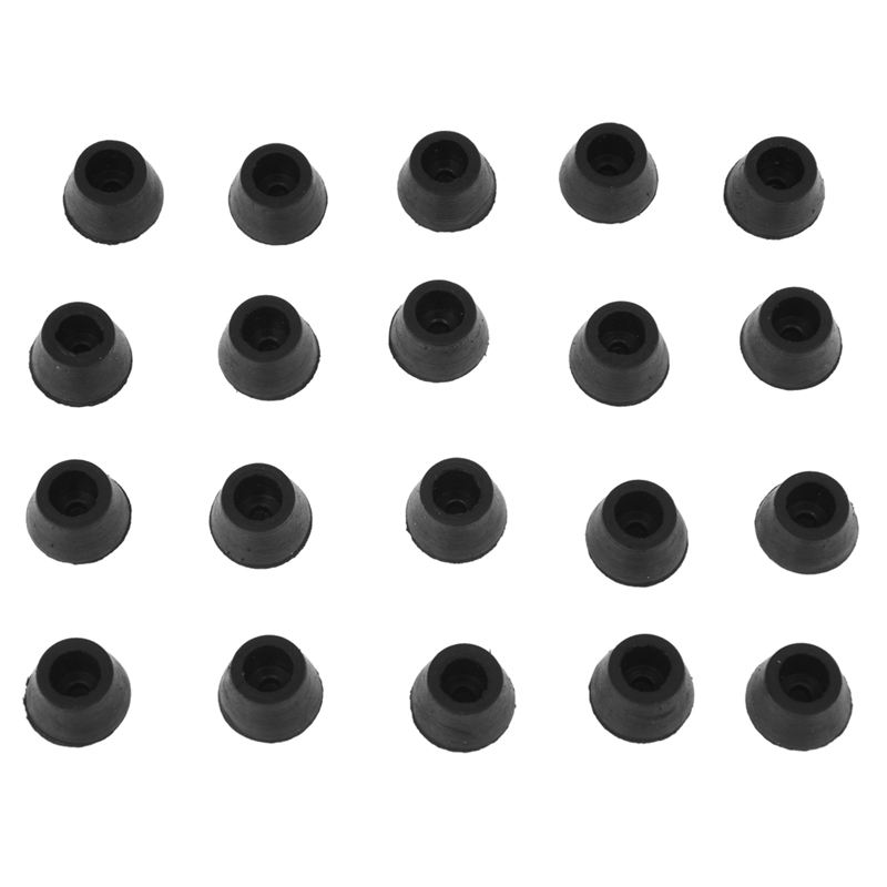 EASY- 20PCS Black Chair Couch Table Rubber Furniture Leg End Caps 16mm Dia