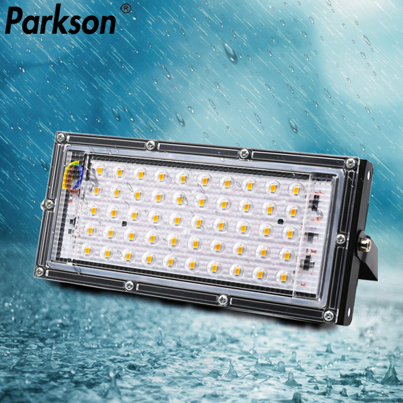 50W Led Flood Light AC 220V 240V Floodlight Waterproof IP65 LED Spotlight Outdoor Projector Outside Streetlight Wall Lamp