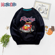 Hot Sale Girls Casual Autumn Sweatshirt Boys Fashion Long Sleeve Car Printed Kids Hoodies Child Clothing Sweatshirts