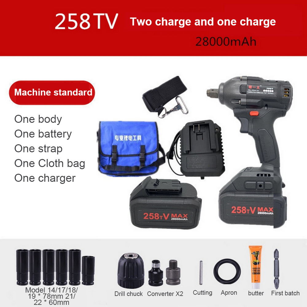 21V Impact Wrench Socket Brushless Electric Wrench 480Nm 4000mAh Li Battery Cordless Hand Drill Installation Power Tools