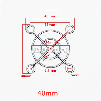 30mm 40mm 50mm 60mm 70mm 80mm 90mm 110mm 120mm 135mm 140mm Metal Fan Guard Protective Grill for PC Ventilator image