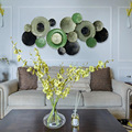 Creatieve Amerikaanse Ijzeren lotus wanddecoratie 3D metalen muur decor voor woonkamer nordic decoratie thuis metalen tuin decors
