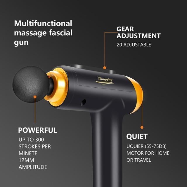 Massage Gun Muscle Relaxation Massager Vibration Fascial Gun Fitness Equipment Noise Reduction Design For Male Female 5