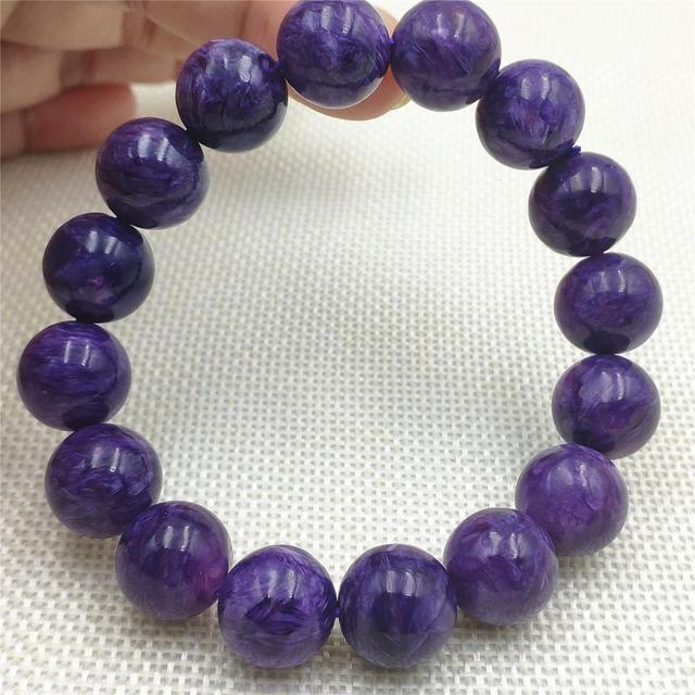 Купить бусины шармы из натурального фиолетового хароитного браслета картинки