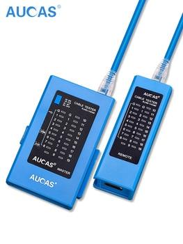 цена на AUCAS Professional Network Cable Tester rj45 RJ11 Network LAN Ethernet RJ45 Cable Tester tool LAN Networking Tool network Repair