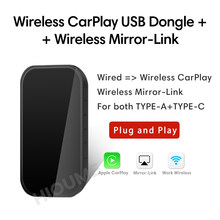 Nova apple carplay sem fio carplay activator adaptador espelho-link para audi mercedes porsche volvo cadillac wv chevrolet skoda