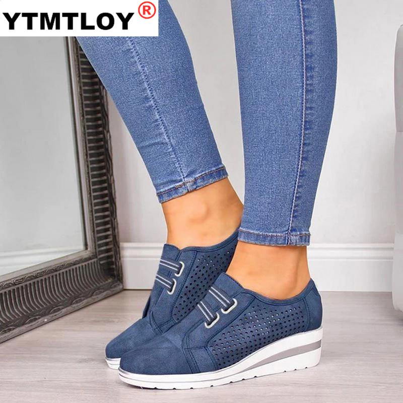 Size 35 44 Flock New High Heel Lady Casual Women Sneakers Leisure Platform Shoes Breathable Height Increasing Shoes Women Flats|Women's Vulcanize Shoes| - AliExpress
