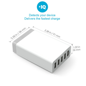 Image 2 - Smart Multi USB Charger 5 USB Travel Wall Charger Adapter 40W 5V 8A US/EU/AU Plug Phone Charger For iPhone Samsung Huawei Xiaomi