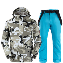 Men Ski Suit Thicken Warm Windproof Waterproof Winter Male Outdoor Sports Hiking Cycling Snow Ski Jackets And Pants