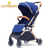 3 In 1 Baby Stroller Four Wheels Stroller Travel Stroller Baby Carriage Bassinet Lightweight Folding Infant Hot Mom Stroller
