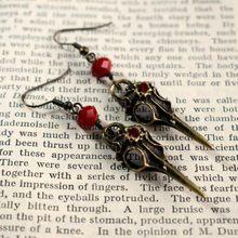 Boucles d'oreilles gothiques en résine pour femmes, perles de mode, corbeau, Raven, crâne, Wiccan, cadeau de fête