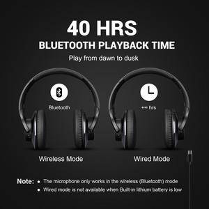 Image 2 - OneOdio Original A10 Advanced Active Noise Cancelling Bluetooth Headphones with Super Deep Bass Fast Charge 40H Playtime