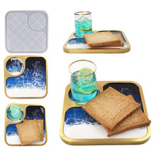 DIY Crystal Epoxy Resin Mold Mug Cup Breakfast Tray Dinner Plate Mirror Silicone Mold For Resin