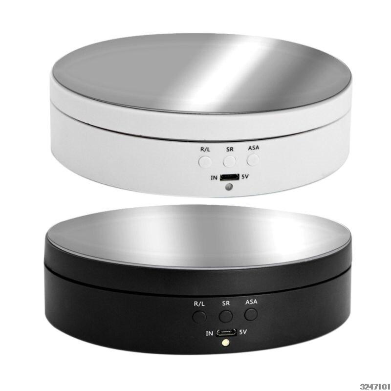3 Velocità Elettrico di Rotazione Del Display Del Basamento Dello Specchio Giradischi Dei Monili Del Supporto Della Batteria