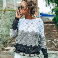 2019 осенние пуловеры с круглым вырезом, женский свитер размера плюс 3XL, вязаный свитер с перекрещивающимися крест-накрест, женский джемпер цв...