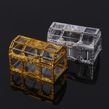 Portable Candy Box European Hollow Storage Box Gold Silver Treasure Chest Jewelry Ring Necklace Carrying Case Organizer(China)