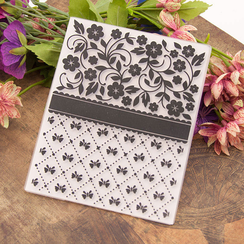 Plastic Embossing Folder Template DIY Scrapbooking Paper Cards Making DIY Crafts